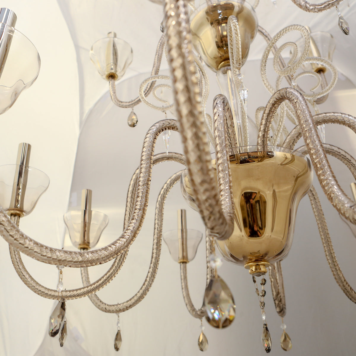 Reclaimed BEBY Italy Murano Glass Chandelier | The Architectural Forum