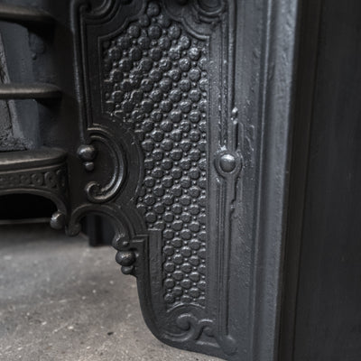 Antique Ornate Late Georgian, Early Victorian Cast Iron Insert - architectural-forum
