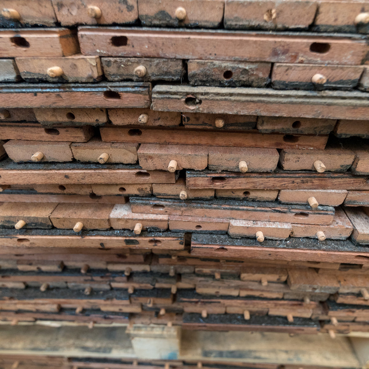 Reclaimed Hardwood Parquet Flooring 45m² Available | The Architectural Forum