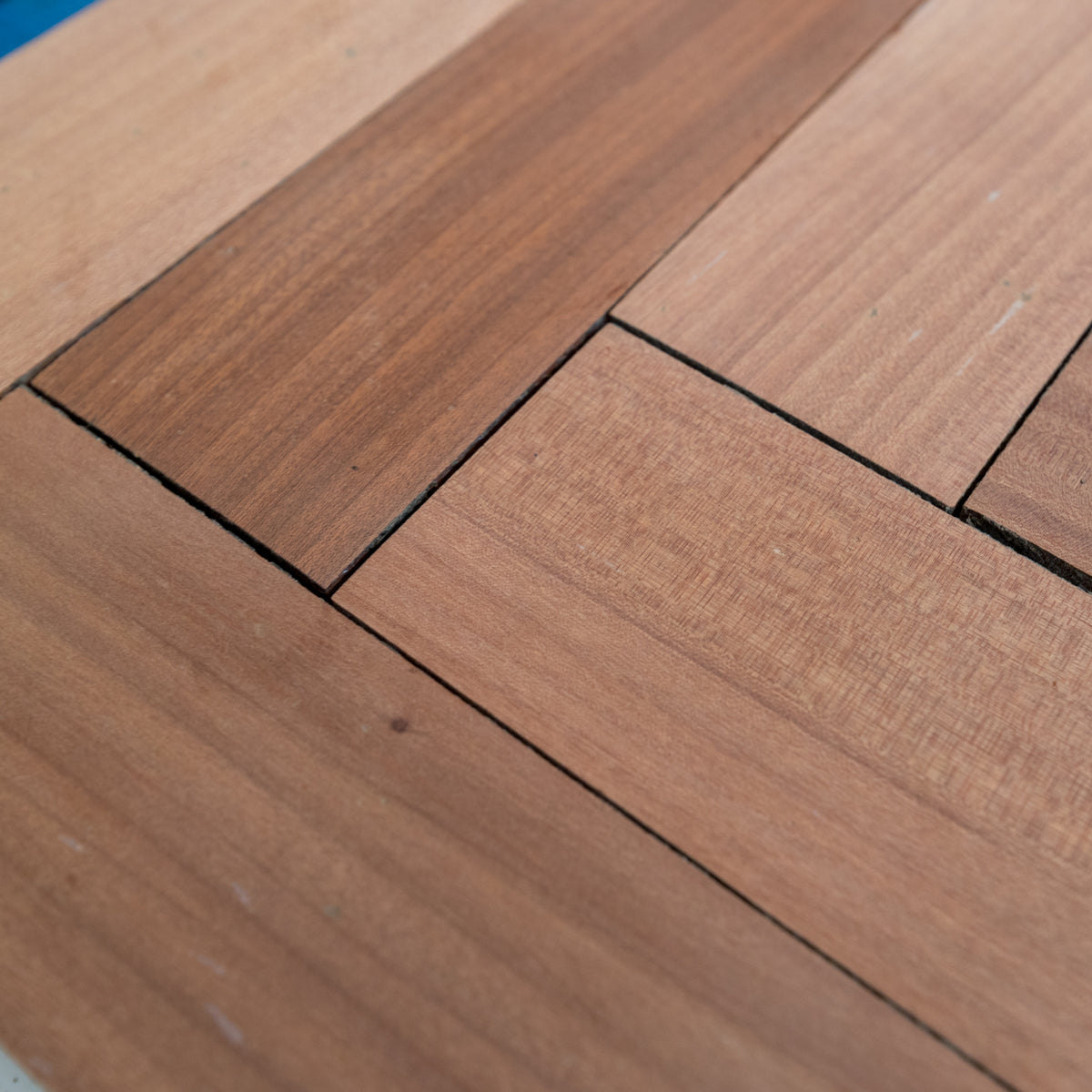 Reclaimed Sapele Parquet Flooring 173m² Available | The Architectural Forum