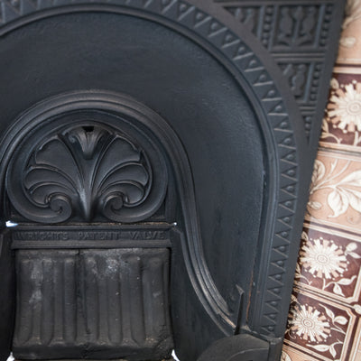Antique Edwardian Tiled Cast Iron Insert - The Architectural Forum