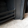 Antique Edwardian Cast Iron Fireplace Insert - architectural-forum