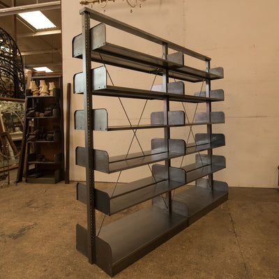 Reclaimed Double Sided Mid century Shelving Units Bookcases
