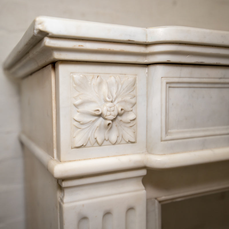 Antique Carrara Marble Louis XVI Style Fireplace Surround - The Architectural Forum