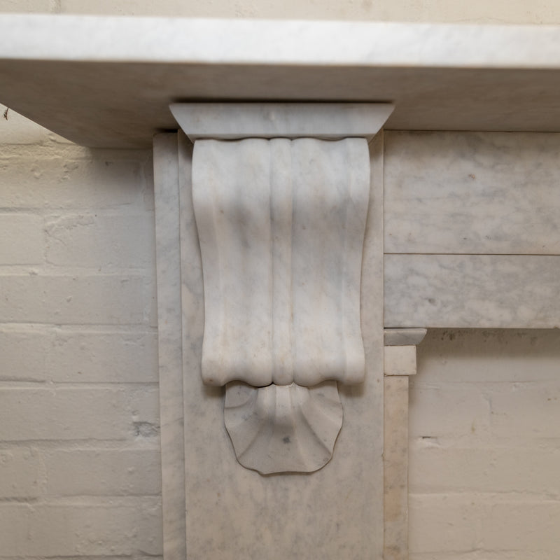 Antique Victorian Marble Corbel Fireplace Surround