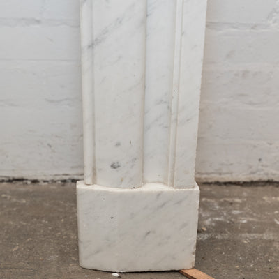 Reclaimed Louis Style Carrara Marble Fireplace Surround - architectural-forum