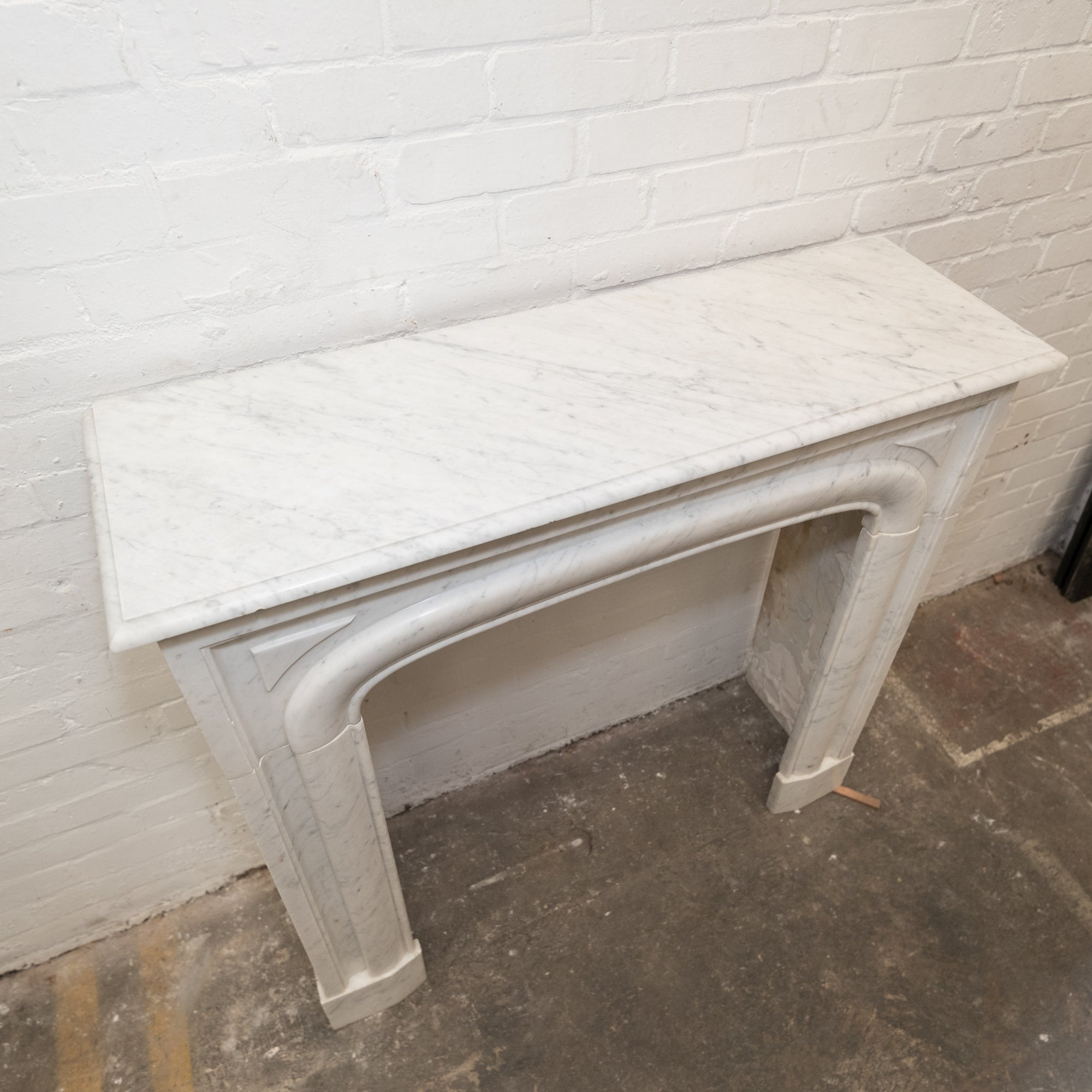 Reclaimed Louis Style Carrara Marble Fireplace Surround | The Architectural Forum