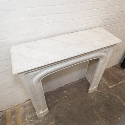 Reclaimed Louis Style Carrara Marble Fireplace Surround