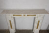 Antique Statuary & Sienna Marble Chimneypiece