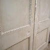 Antique french painted pine dividing doors - 289cm x 152.5cm - The Architectural Forum