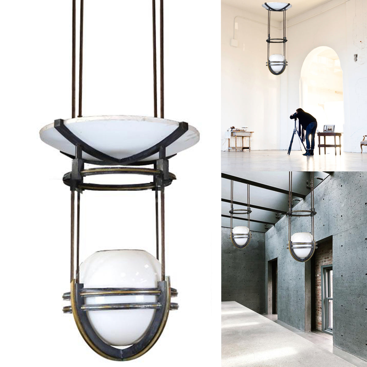 Large Art Deco Style Suspended Lighting