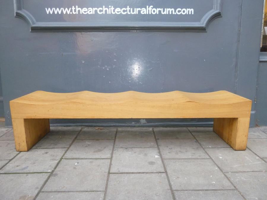 Reclaimed Carved Wooden Benches - architectural-forum