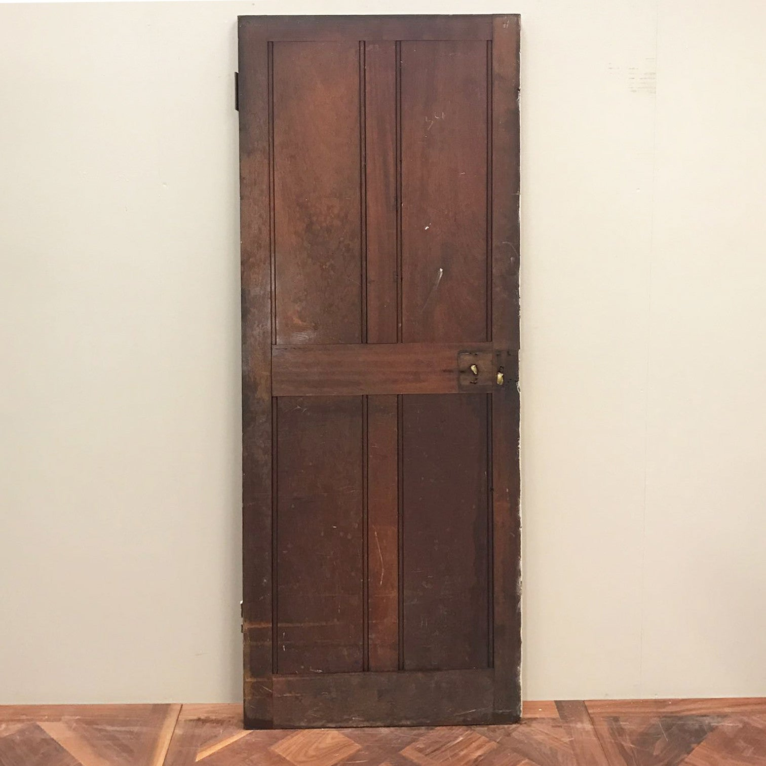 Reclaimed Teak Four Panel Door - 196cm x 68cm x 3.5cm - architectural-forum
