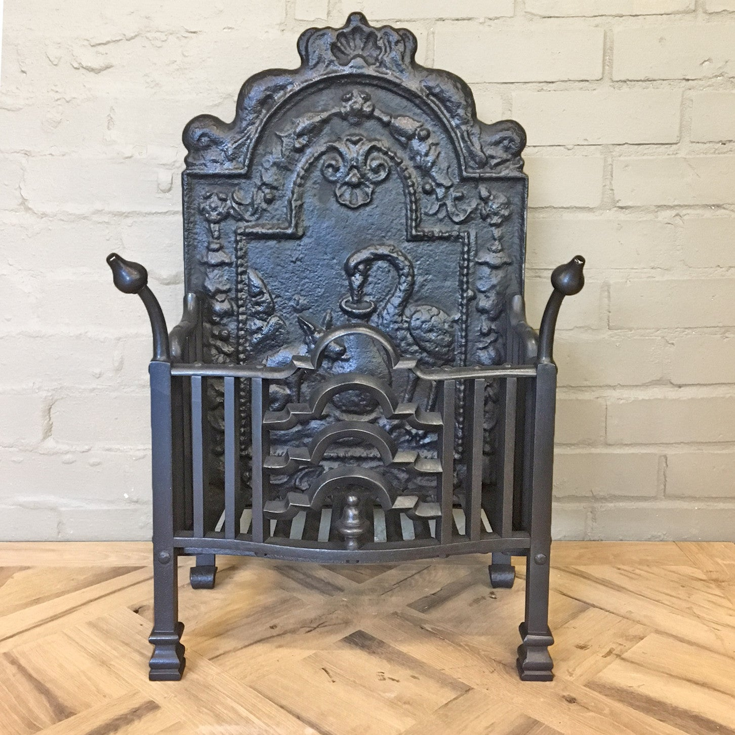 Twentieth Century Cast Iron Fire Basket - architectural-forum