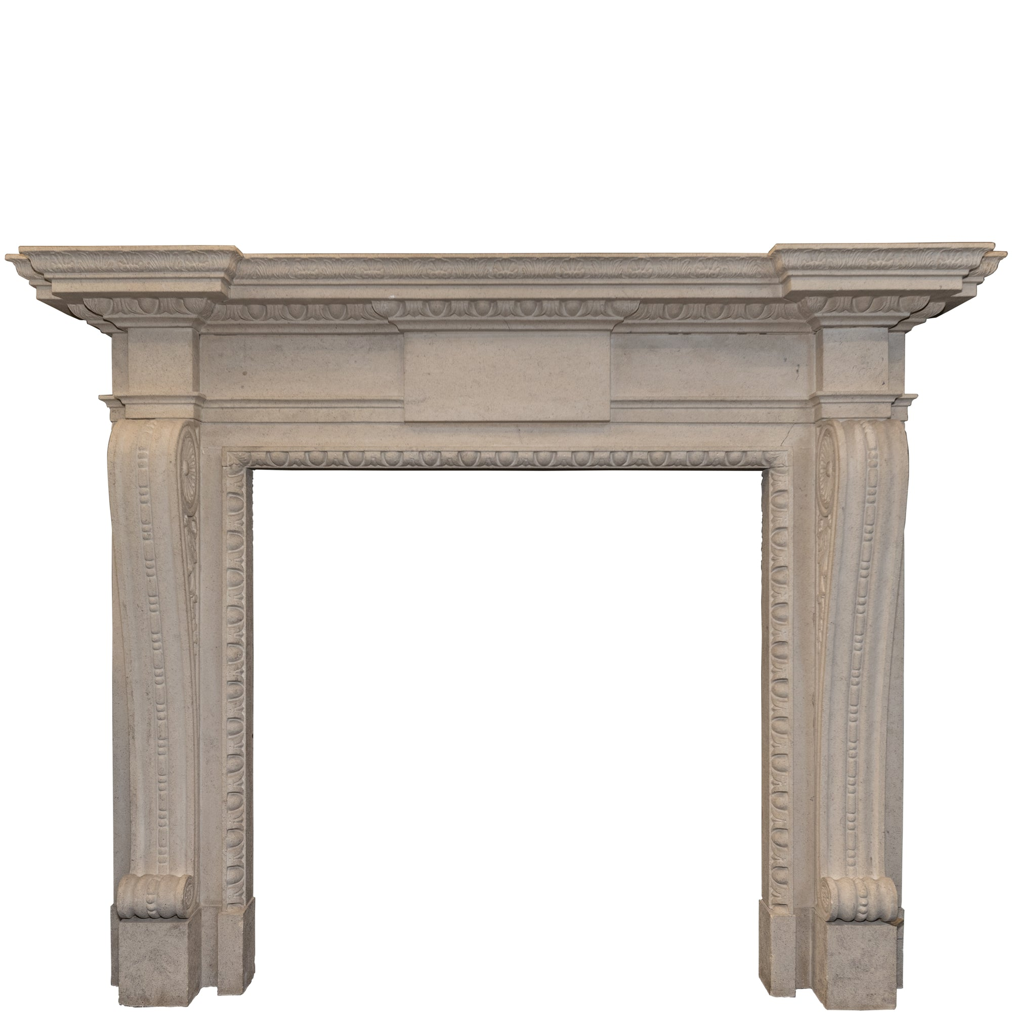 Neoclassical Style Bath stone Fireplace Surround - architectural-forum