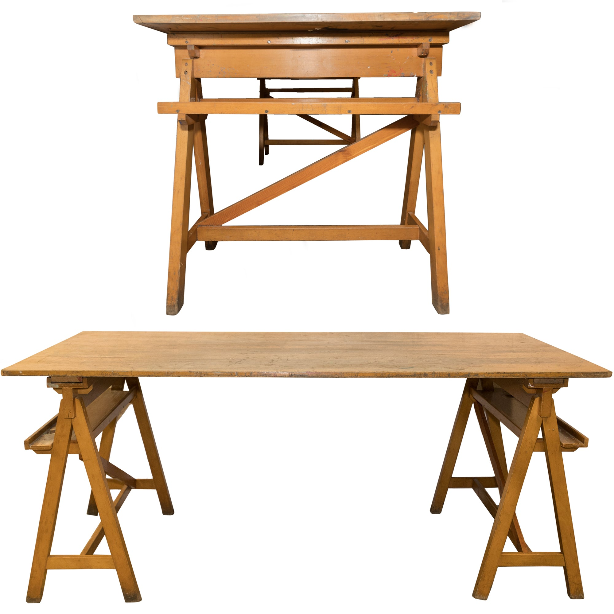 Reclaimed Beech Trestle Tables