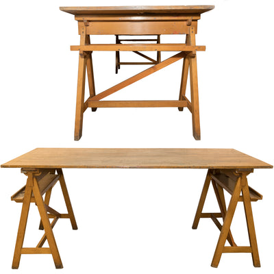 Reclaimed Beech Large Trestle Tables - architectural-forum