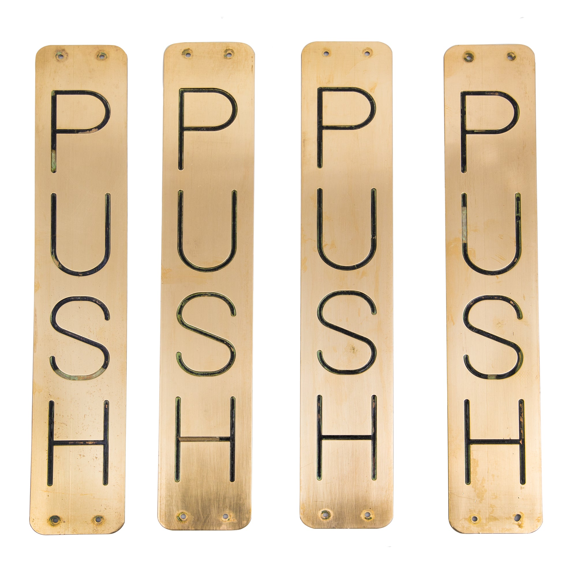 "Reclaimed Brass ""Push"" Finger Plates - architectural-forum"