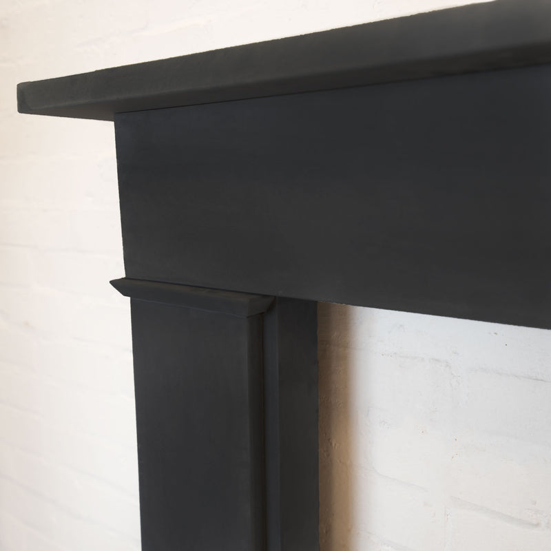 Late Georgian/Victorian Style Black Slate Fireplace Surround - architectural-forum