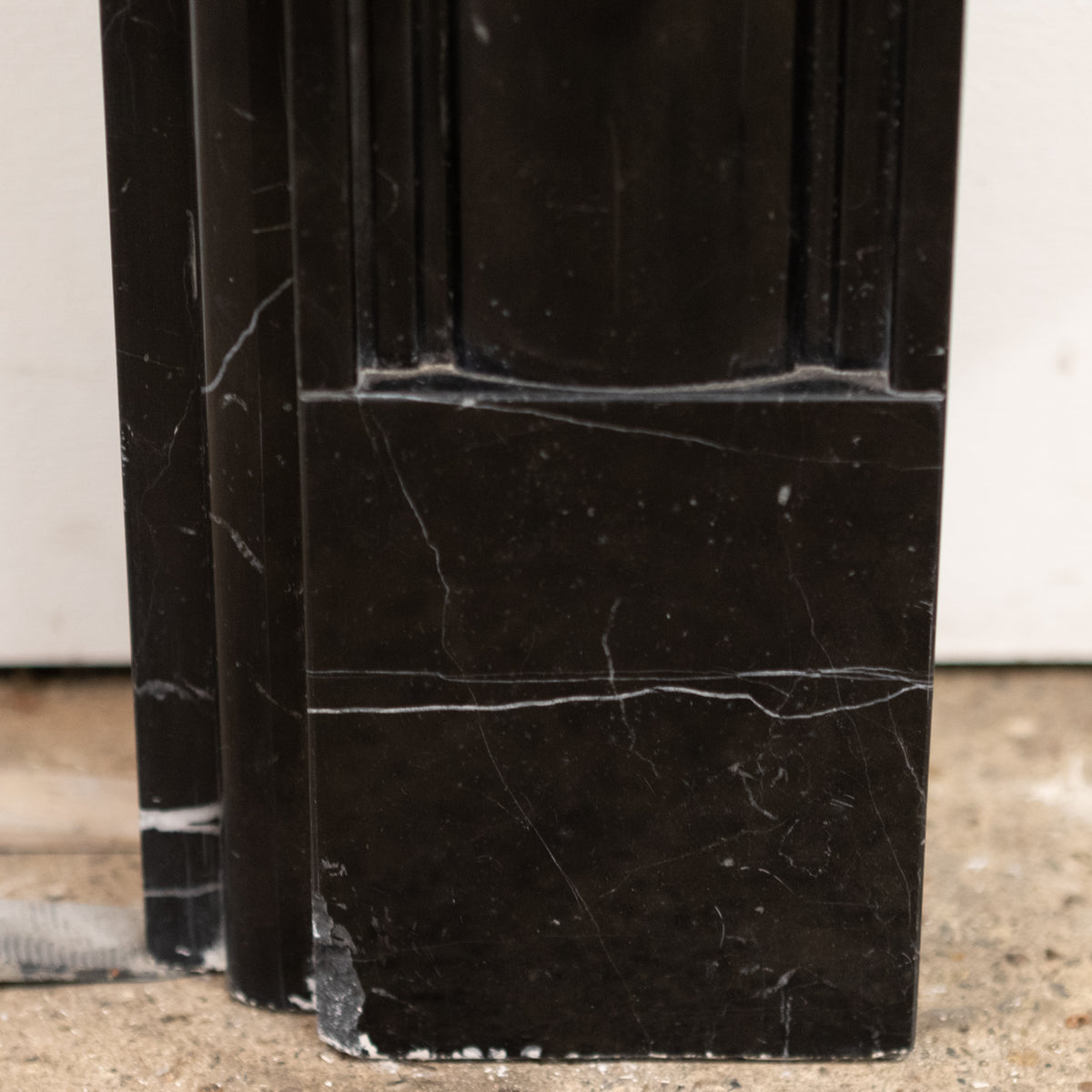 Reclaimed Black Marble Georgian Style Fireplace Surround | The Architectural Forum