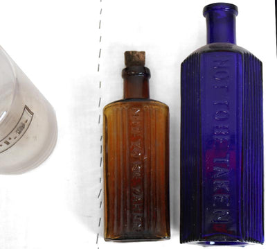 Victorian Apothecary Bottles - Mixed Sizes