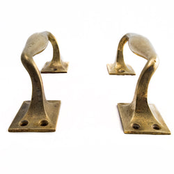 Art Deco Brass Door Pull Handles