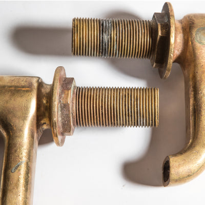 Pair of Antique Brass Taps