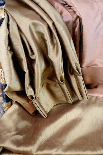 Brushed Silk Bronze Curtains - architectural-forum