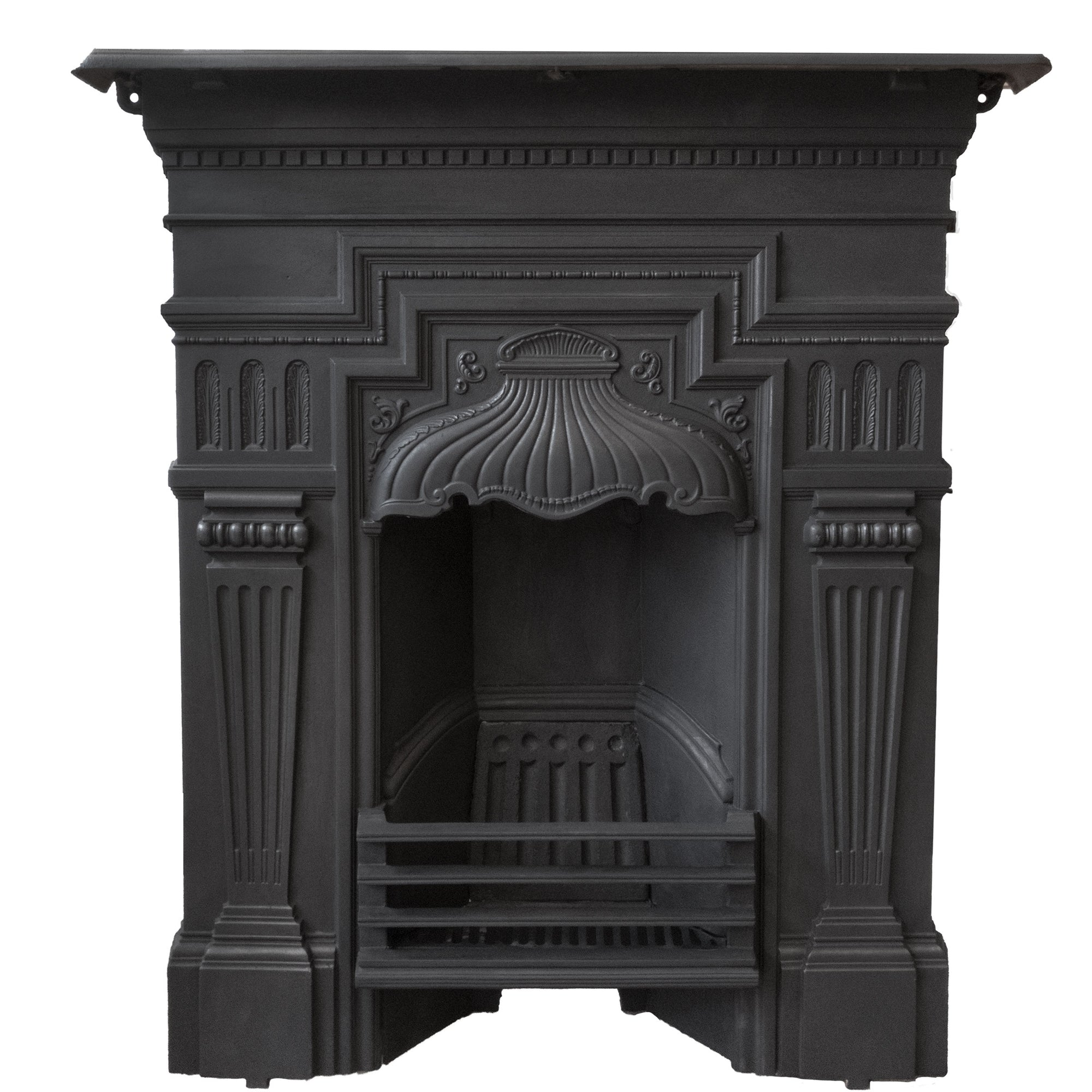 Antique Edwardian Cast Iron Combination Fireplace - The Architectural Forum