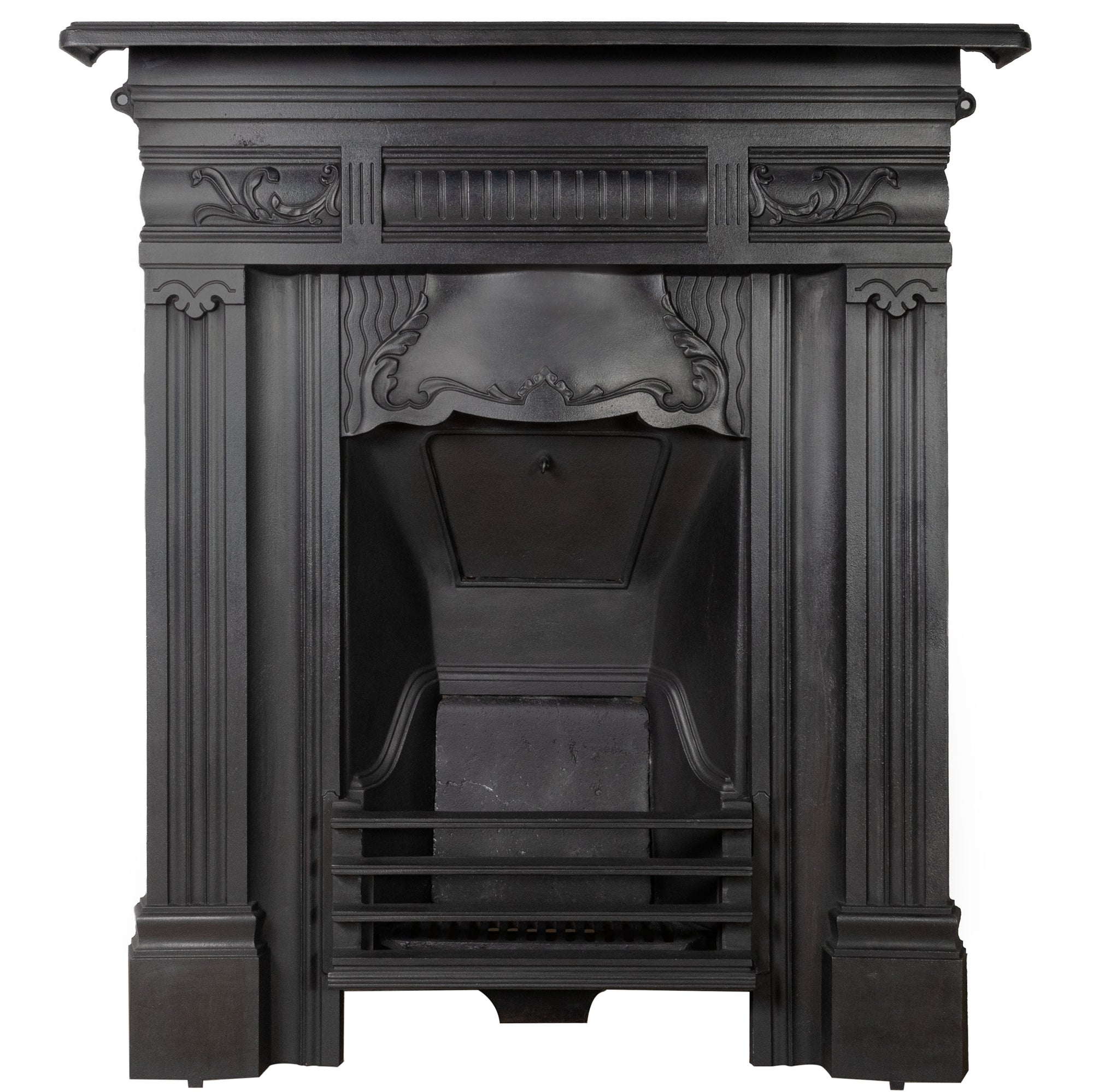 Antique Victorian Cast Iron Combination Fireplace - The Architectural Forum