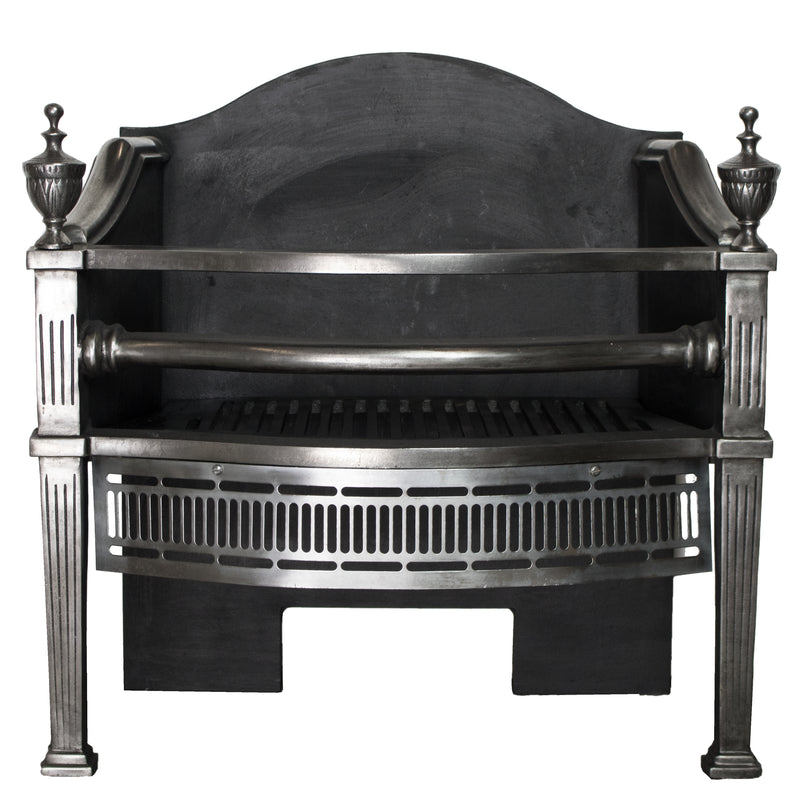 Reclaimed Cast Iron Victorian Style Fire Basket