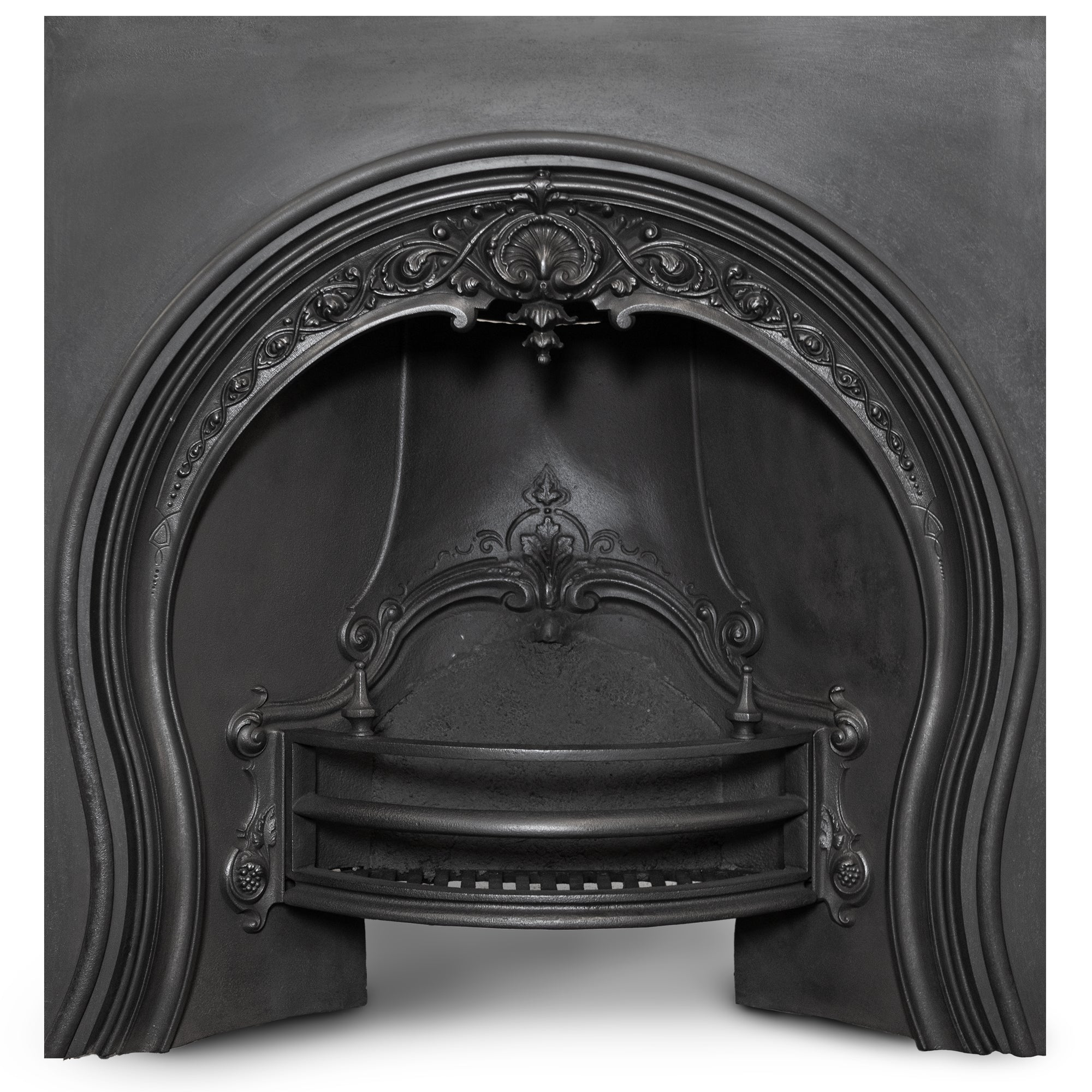 Antique Victorian Cast Iron Horseshoe Fireplace Insert | The Architectural Forum