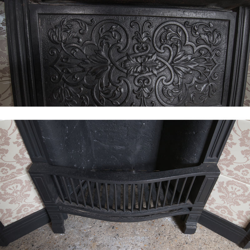 Antique Edwardian Tiled Cast Iron Insert