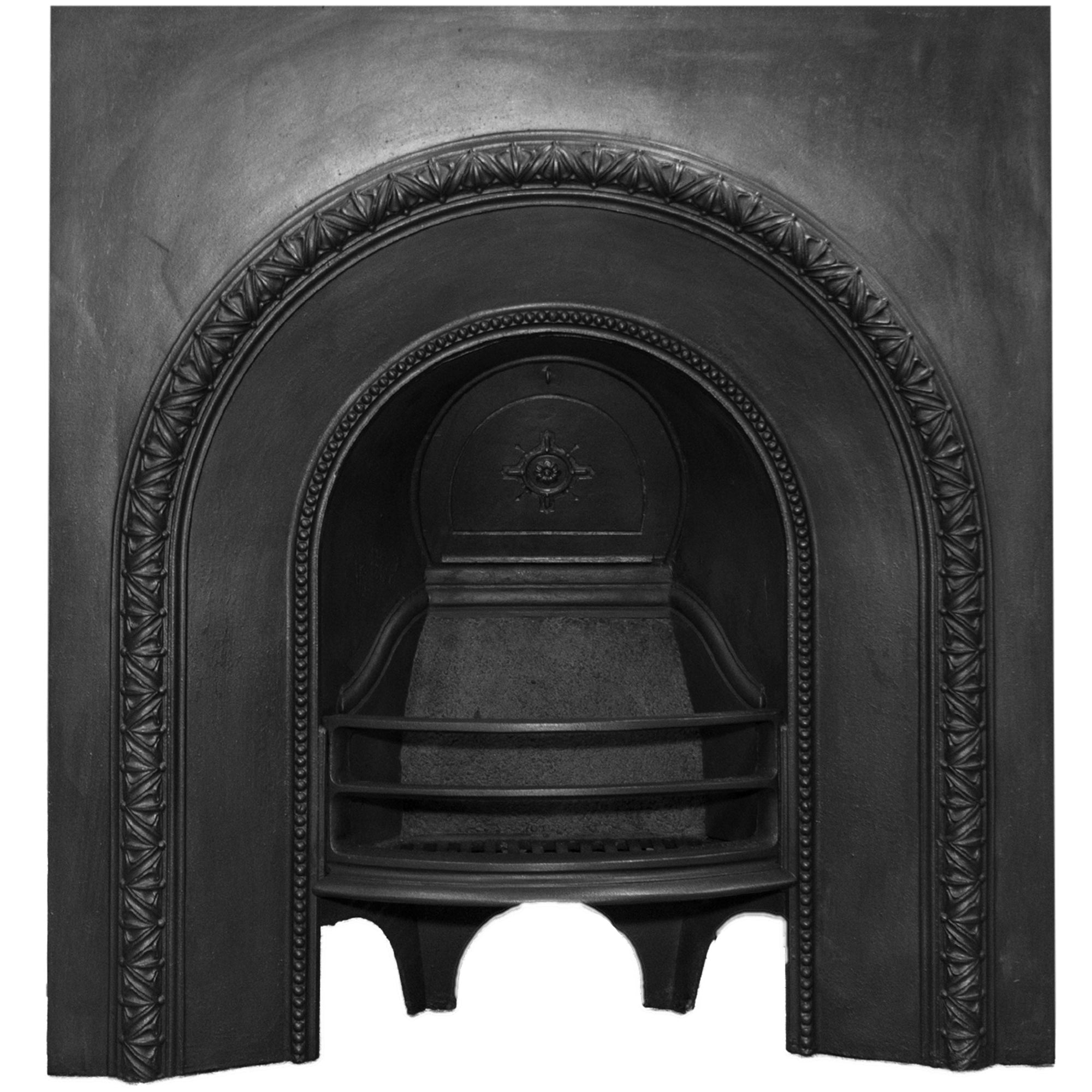 Antique Victorian Cast Iron Fireplace Insert