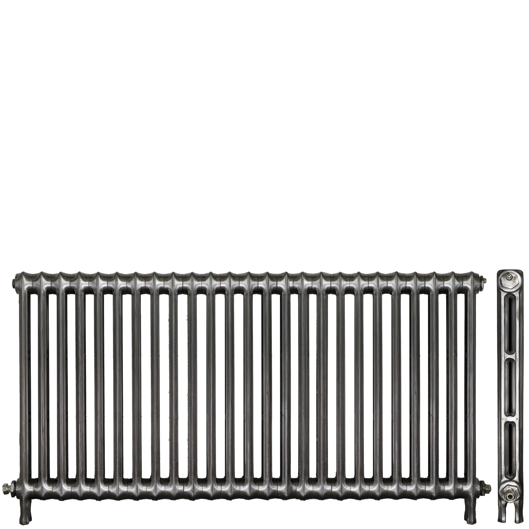 Antique Hand Polished Cast Iron Two Column Radiator 25 Sections | The Architectural Forum