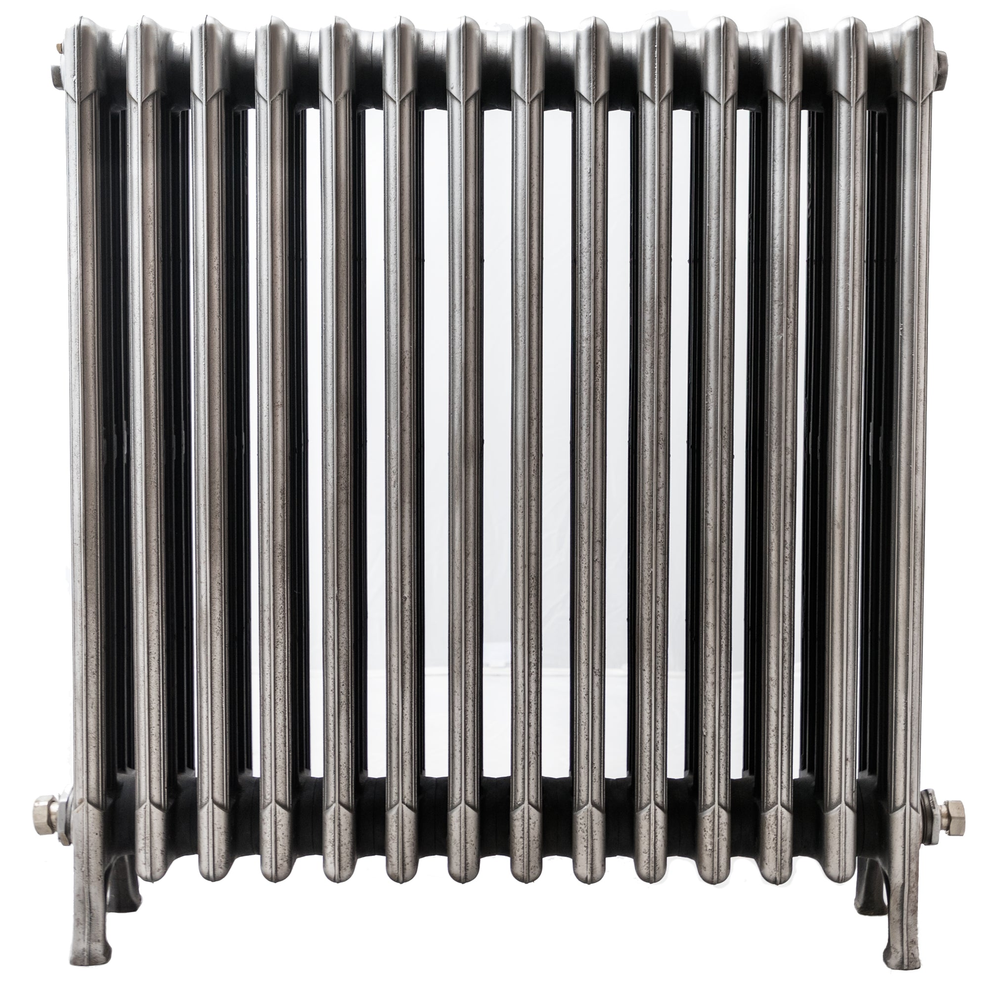 Antique 4 Column Polished Cast Iron Radiator