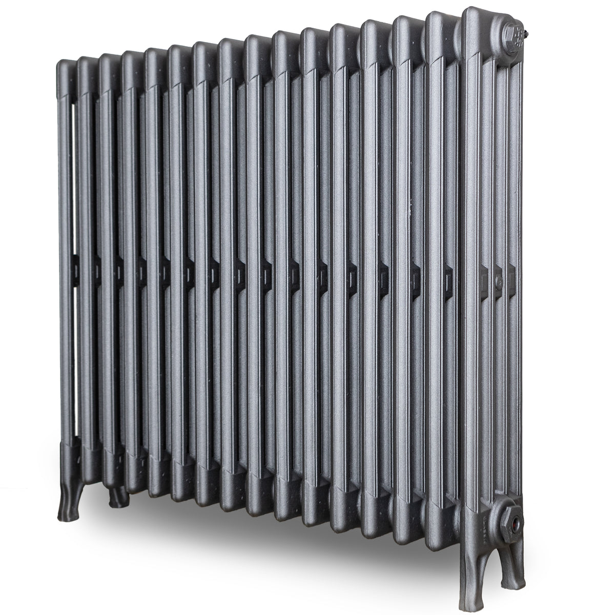 Fully Restored Cast Iron Radiator 4 Column, (76cm Tall x 83cm Long ) | The Architectural Forum
