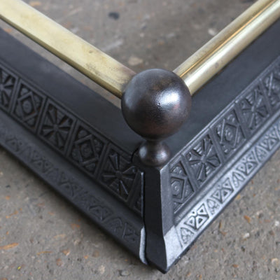 polished crass and cast iron fire guard