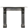 Antique Victorian Polished Cast Iron Corbel Fireplace Surround - architectural-forum