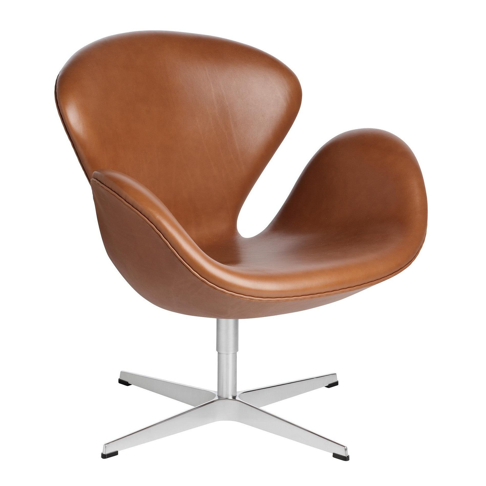 Republic of Fritz Hansen Swan Chairs in Leather (sef of 4)