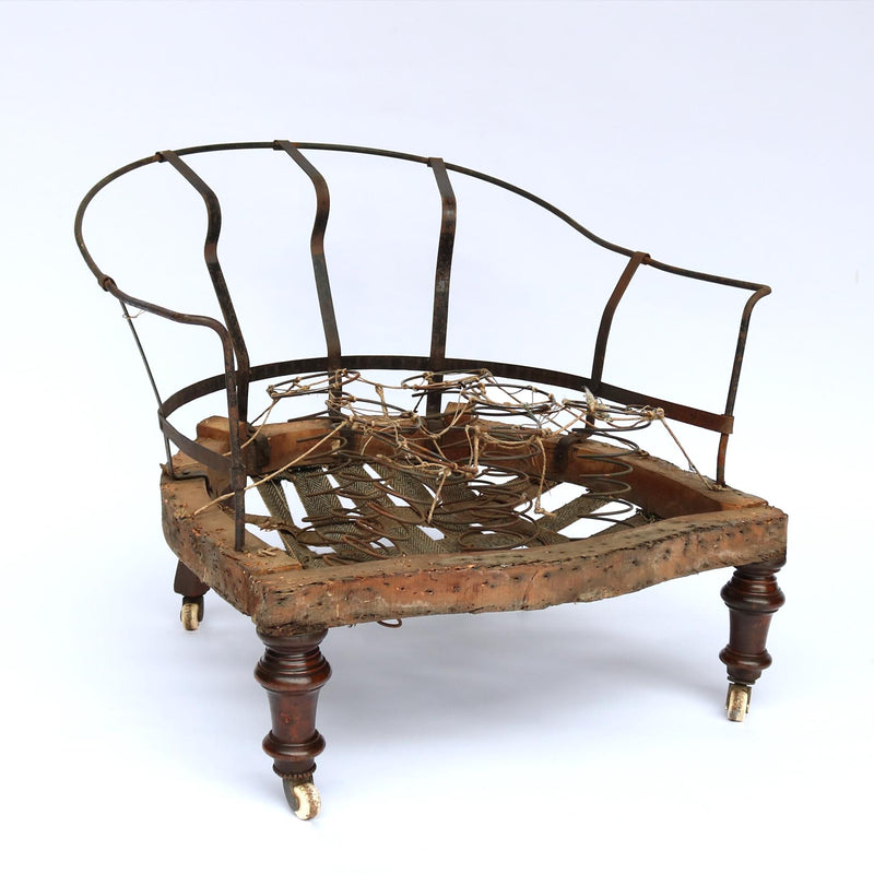 Victorian nursing chair frame.