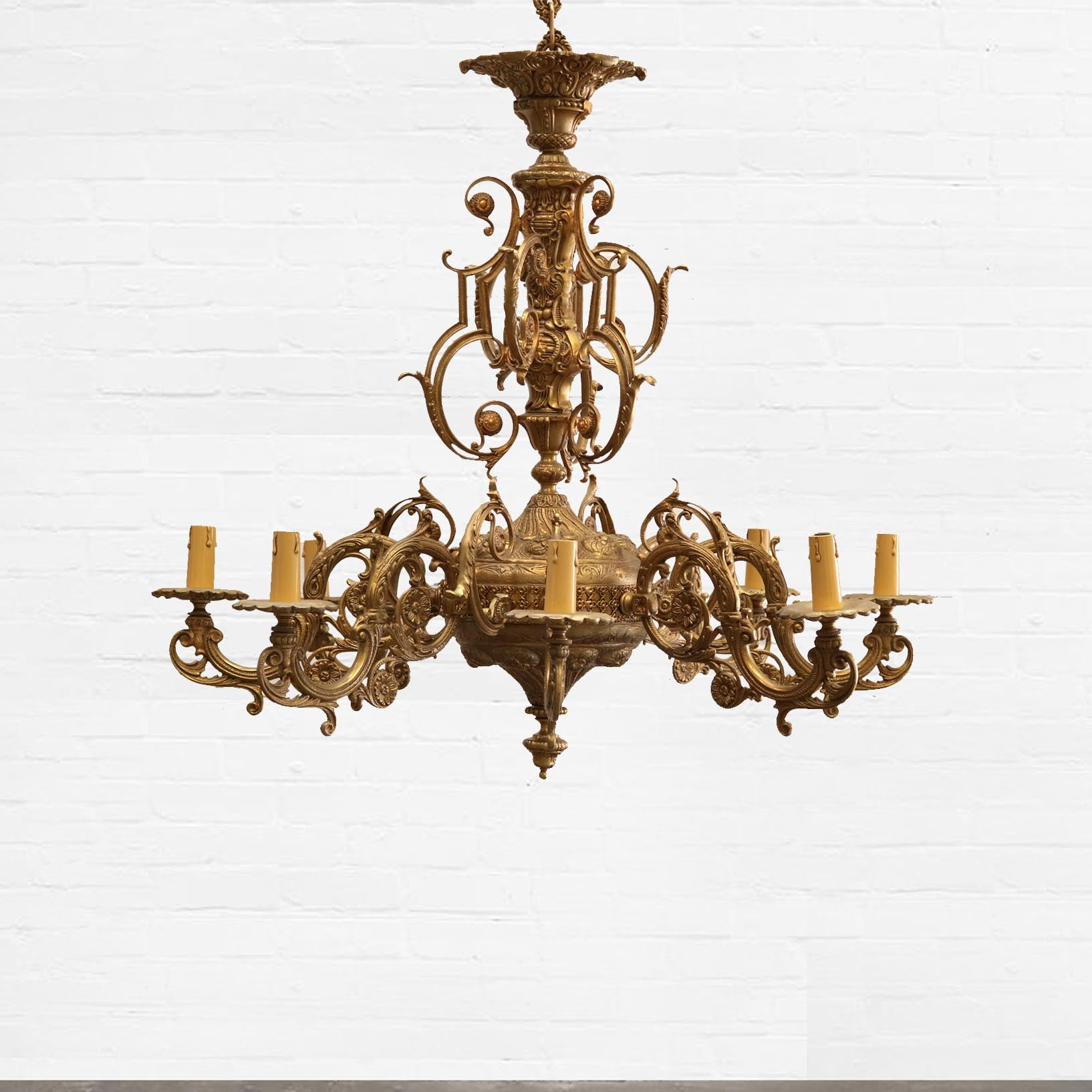 Antique Ornate Brass Chandelier - The Architectural Forum