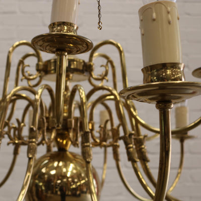 vintage brass chandelier
