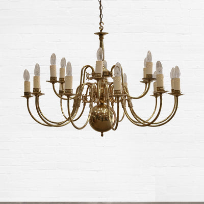Polished Brass Chandelier