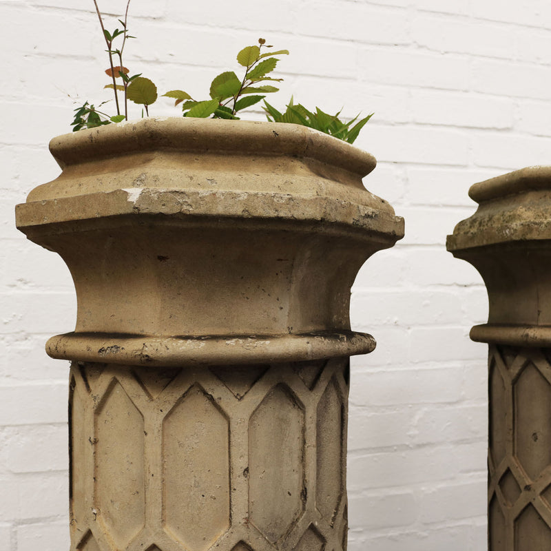 This fabulous cream terracotta chimney stack was manufactured by J Stiff and Sons in the late 19th Century