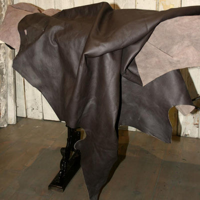 Chocolate Brown Leather hide - architectural-forum