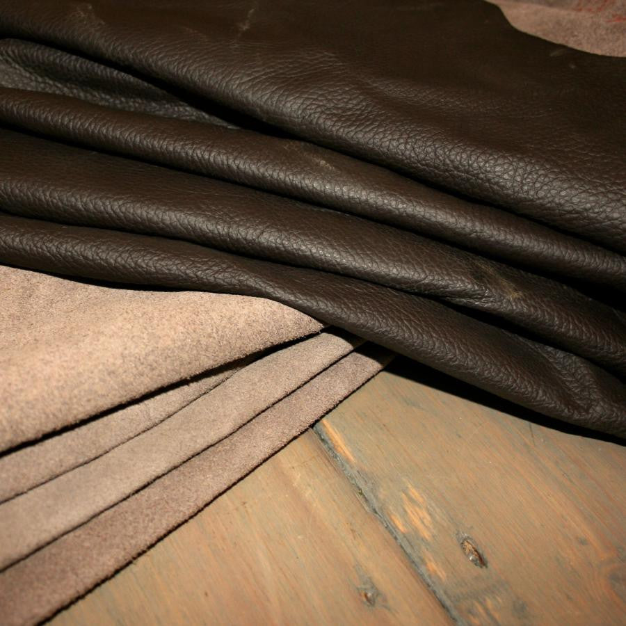 Chocolate Brown Leather hide - The Architectural Forum