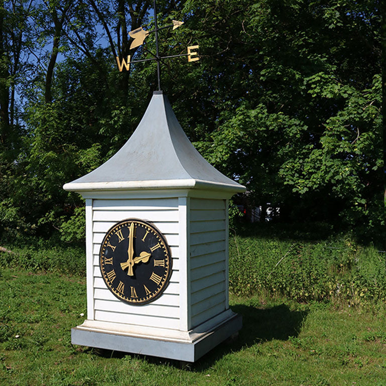 Reclaimed Clocktower with Weathervane