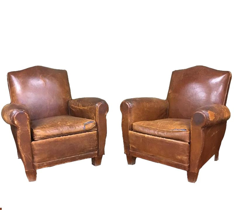Leather chairs. Antique leather chairs. Vintage club chairs - Antique Leather Club Chairs · The Architectural Forum