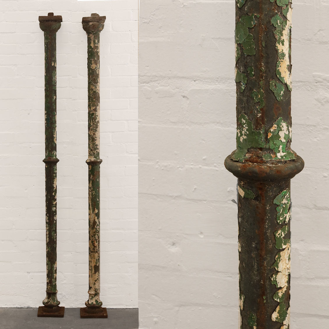 Antique Victorian Cast Iron Support Column - architectural-forum